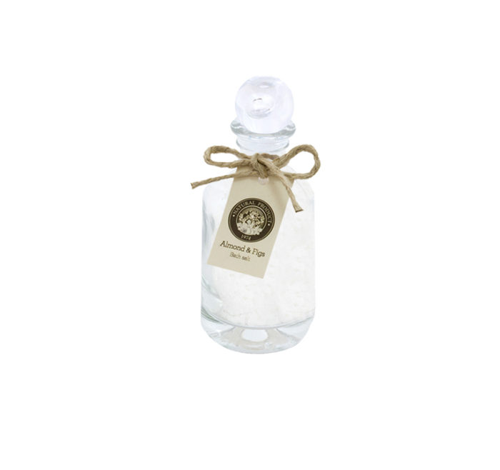 Almond-&-Figs-Bath-salt-in-square-glass-120-g-AIF115
