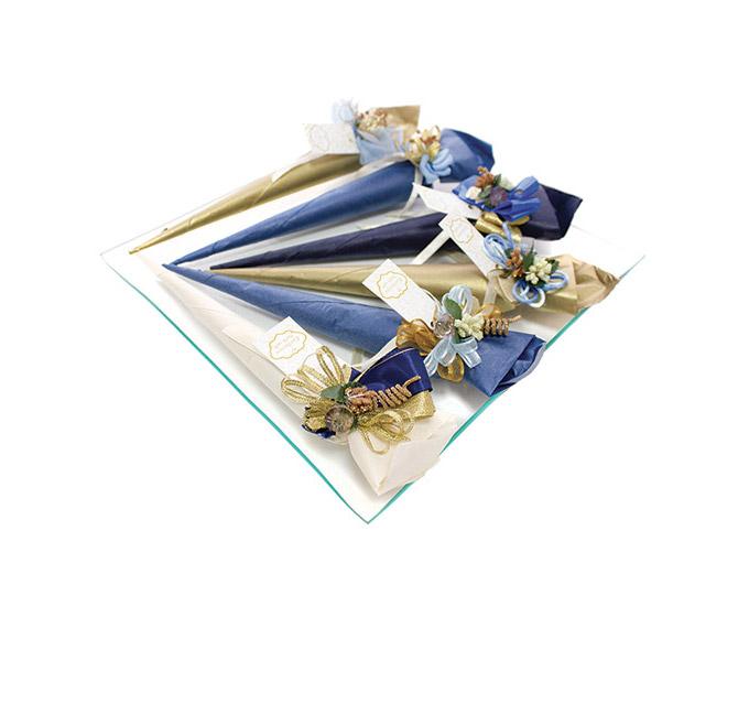 Exclusive-Blue-Gold-Bath-salt-cone-100-g-EXC102-BuG